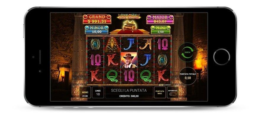 In questa foto si può intravedere il gioco con Book of Ra mystic fortunes mobile dalla nostra pagina.