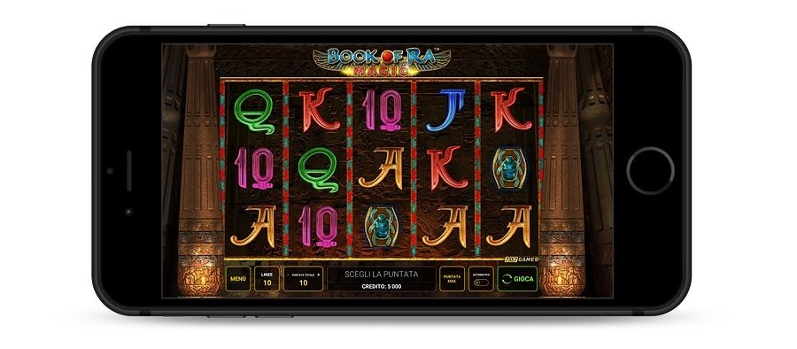 Screenshot del download Book of Ra magic su un telefono cellulare.