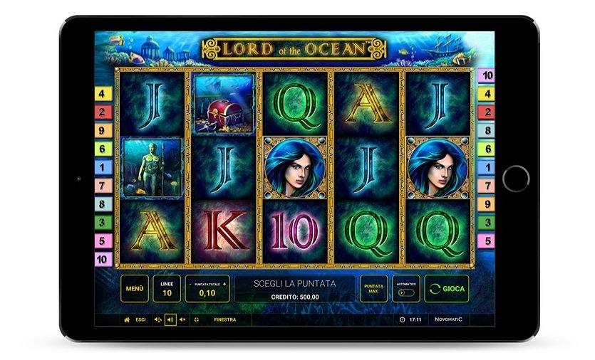 Schermata di gioco Lord of the Ocean, video originale del gioco.